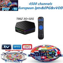 Giek iptv T95Z Plus Europese IPTV 4700 + EPG + VOD 3G/32G Android TV set android doos italiaanse arabisch iptv 4 K h96PRO(China)