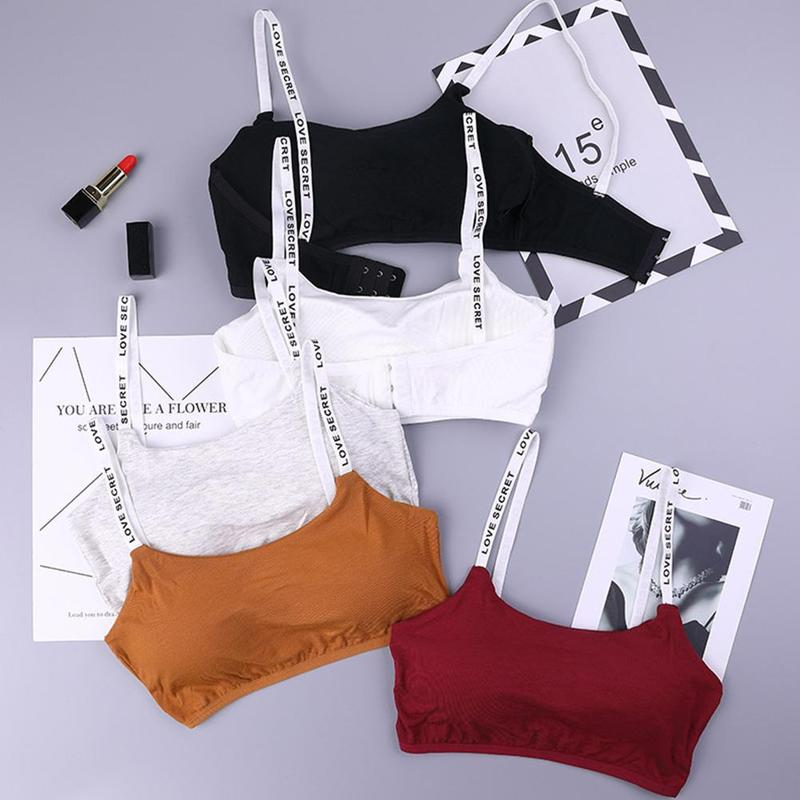 Korean Version Of The Underwear Female Rimless Bra Seamless Removable Student Strap Vest Short Thin Section Wrapped Chest Bra