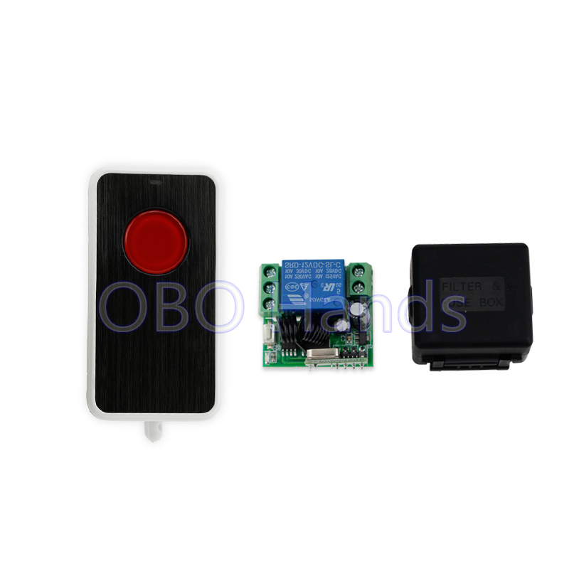 New 315/433MHz DC12V wireless remote control switch with receiver module and shell for door lock long distance up to 50m-SL311 freeshipping rs232 to zigbee wireless module 1 6km cc2530 chip