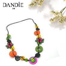 Dandie Fashion Wood Flower And Shell Neckalac, Fit For A Woman To Wear In The Summer