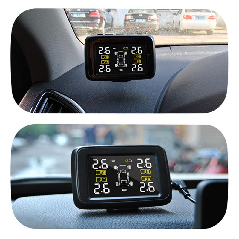 CAREUD U901 Car Wireless Accurate TPMS Tire Pressure Monitoring System With 4 External Sensors LCD Display Built-in Battery careud u901 car wireless tpms tire pressure monitoring system with 4 external sensors lcd display
