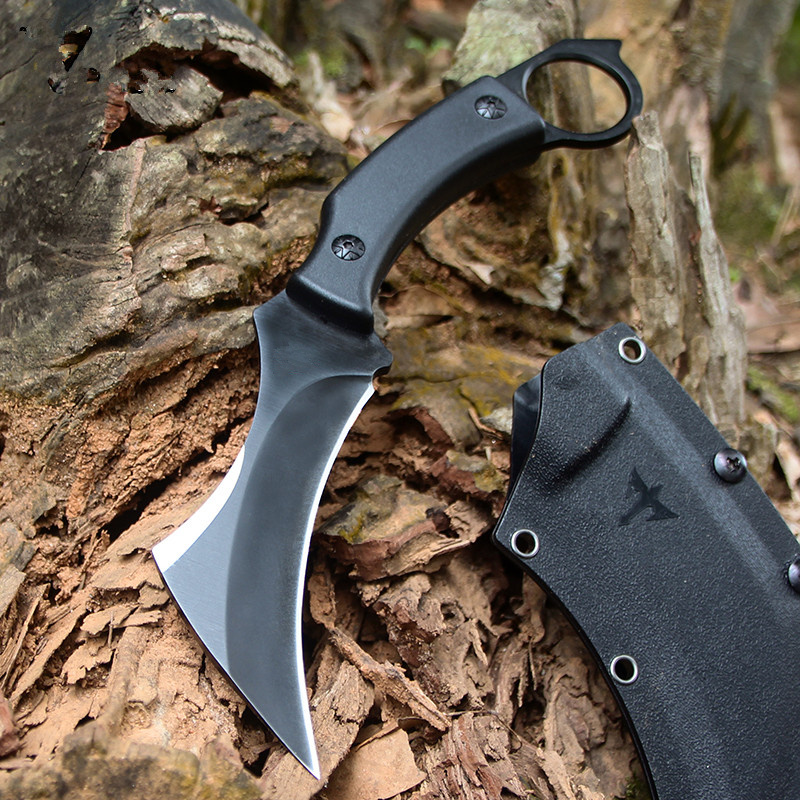 High Hardness Army Tactical Karambit Knife Outdoor Claw Machete Hunting Fixed Blade Knives Combat Survival Gear Camping EDC Tool 2