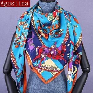 winter scarf scarfs shawl women designer brand luxury autumn scarves hijab ethnic animal print square schal wape shawls oversize(China)