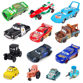 Disney Pixar Cars 2 3 Lightnig McQueen Mater Jackson Storm Ramirez 1:55 Diecast Metal Alloy Car Model Birthday Gift Toy For Kid image