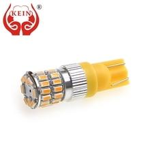 цена на KEIN 2pcs t10 led W5W Bulb CANBUS T10 Bulb 36smd 3014 auto car Side Wedge Light Parking 24V white yellow Signal Lamp Vehicle 12V