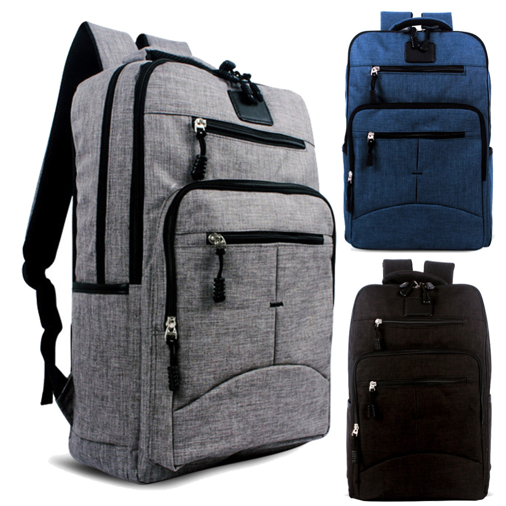 15 15.6 inch Extendable Gunny Linen Computer laptop notebook bags Backpack case Durable for Men Women Business School Travel