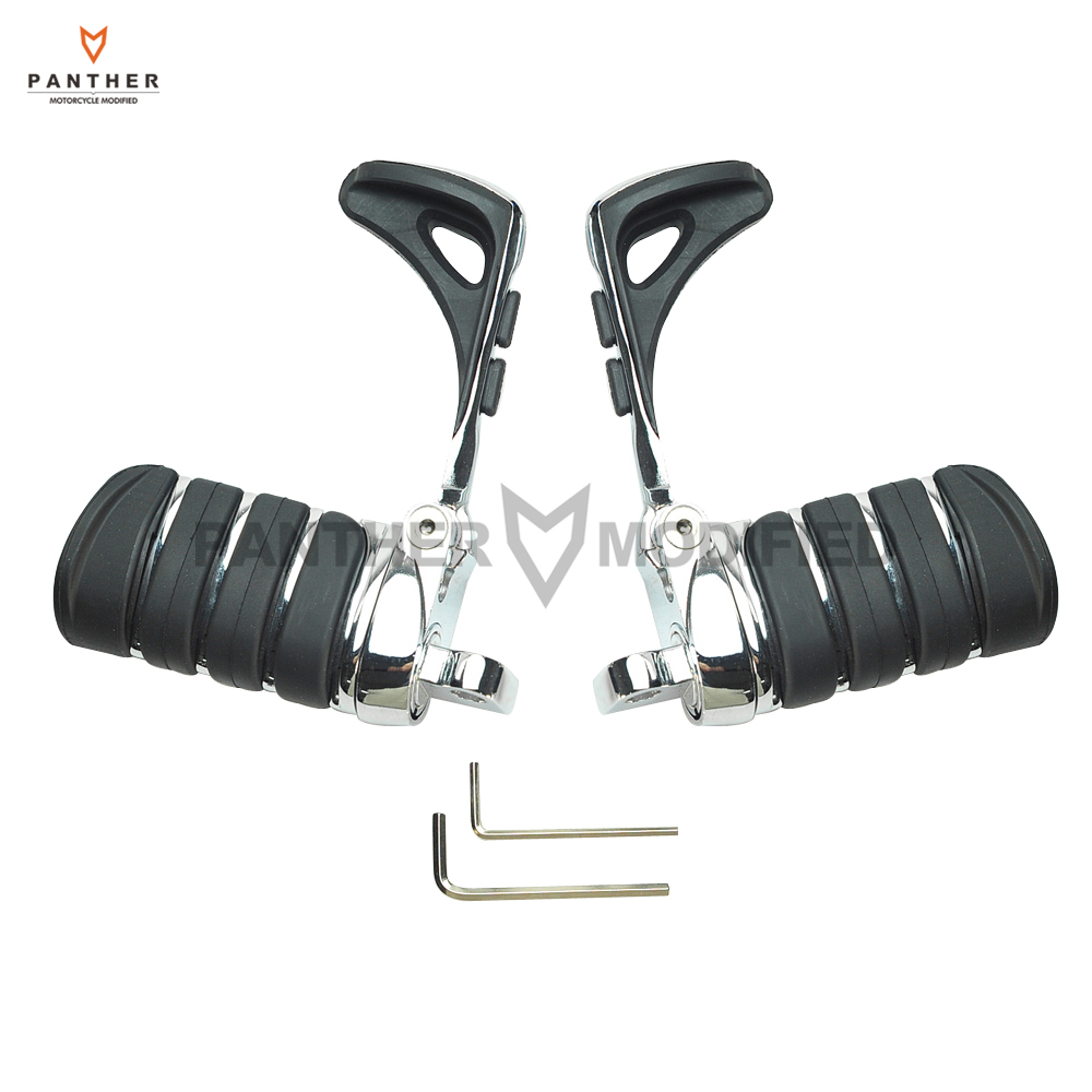 купить Motorcycle Foot pegs Heel Stirrup Footrests Moto Foot Rest case for Harley Touring Softail 883 1200 XL Dyna Fatboy Sportster онлайн
