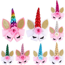 Children Party Headgear Hairpin Flower Hairband Eyelashes Cosplay Headdress Cosplay Hair Accessories Cute Hair Clip Barrette(China)