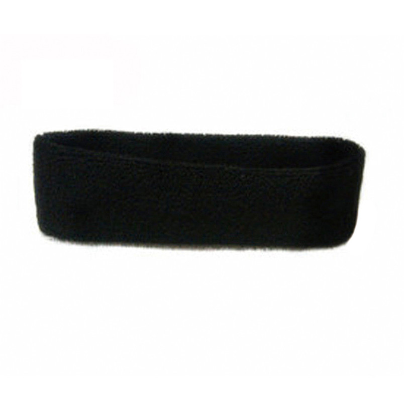 1pc high quality WomenMen Cotton Sweat Sweatband Headband Yoga Gym Stretch Head Band For Sport Sweatband #3n19 (3)