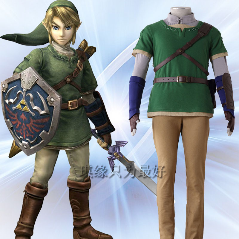 Newest l The Legend of Zelda Link Anime Cosplay Costume