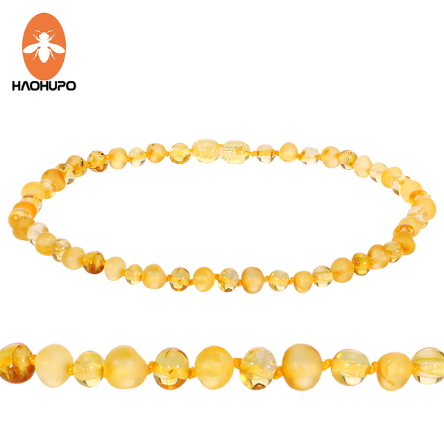 HAOHUPO 2018 New Natural Baltic Amber Teething Necklace/Bracelet Supply Certific