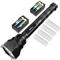 Wert Set Keule led-taschenlampe Cree XML2 Leistungsstarke 6000 Lumen selbstverteidigung Militärischen Taschenlampe Einstellbar + 4*18650 batterie + Ladegerät