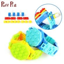 DIY Творческие дети часы база пластин строительные блоки, совместимые Legoed классический опорная плита город рисунках Развивающие детские игрушки