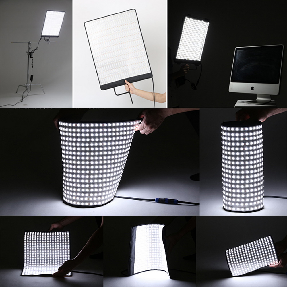 Meking Portable LED Mat with 792 pcs LED Chips Waterproof Cover Stepless Dimmer Photographic Studio Lighting Gear