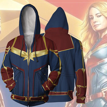Surprise Captain Dropshipping Role Playing Hoodie Costume Superhero 3D Print Hoodie Halloween Casual Pullover Zip Jacket trees sunset 3d print pullover hoodie
