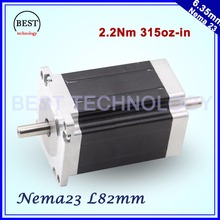 NEMA 23 Stepper motor 57x82mm double shaft 3A 2.2N.m 315Oz-in Both ends of the shaft Nema23 6.35mm For CNC machine 3D printer
