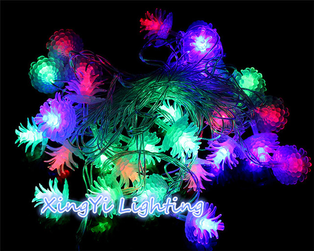 2m 20 led string light battery powered pine cone christmas tree holiday xmas wedding patio pathway