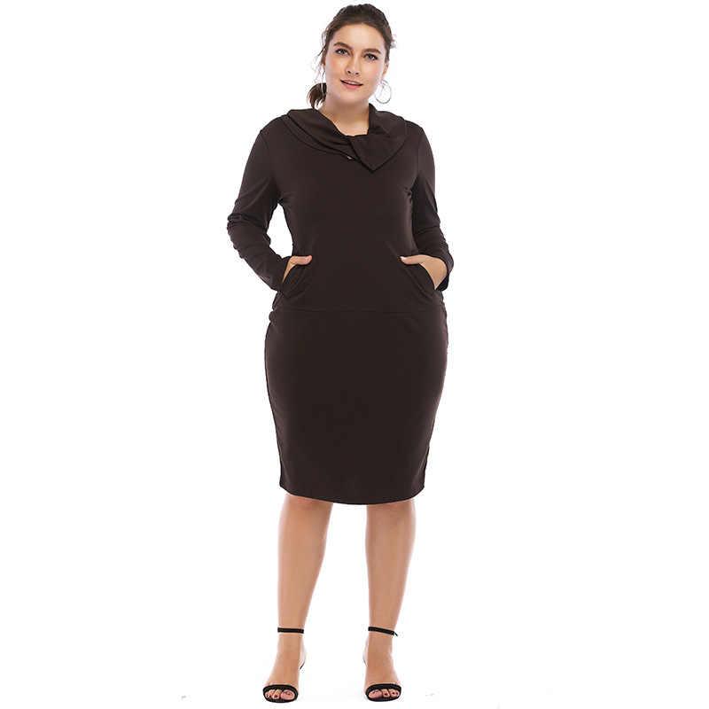2018新しい到着ドレス女性ストレート6xlプラスサイズ無地ドレス女性vestidosカジュアルパーティービッグサイズエレガントなギフト