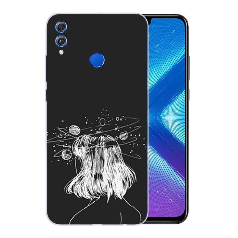Complex Formula Frosted Fundas Soft TPU Print Case For Huawei Honor V20 8X 7 8 9 10 lite 7X 8A V9 V9 Play Cover in Fitted Cases from Cellphones Telecommunications