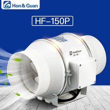 Hon&Guan 6'' Inline Duct Fan Exhaust Fan Mixed Flow Inline Fan Hydroponic Air Blower for Home Ventilation Bathroom Vent 312 CFM sxdool 6 6inch 150mm room ventilation inline duct mixed flow fan 510cmh 300cfm 110 120vac 220 240vac 4200rpm speed control