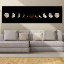Картина на холсте настенные картины Искусство Печать Луна на холсте и плакат без рамки настенная живопись украшение для гостиной