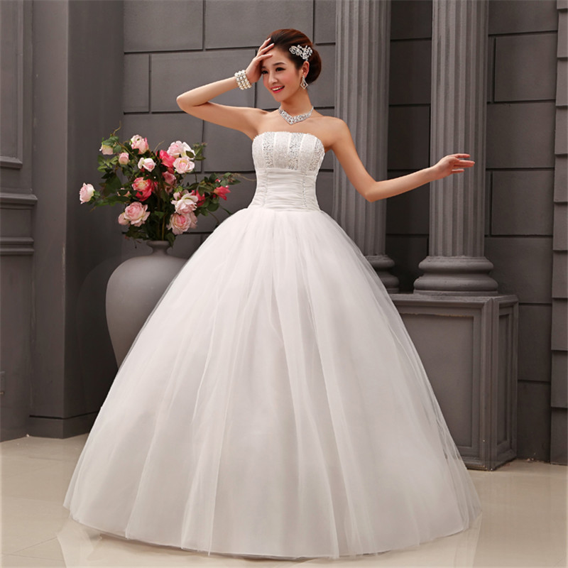 Cheap Wedding Dresses Size 6: HOT Free Shipping White Princess Wedding Dress 2015 Plus