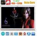 DHL Frete Grátis tablet pc 10 polegada Android 5.1 3G 4G LTE Octa Núcleo 4 GB RAM 32 GB ROM 1280*800 IPS MID Tablets