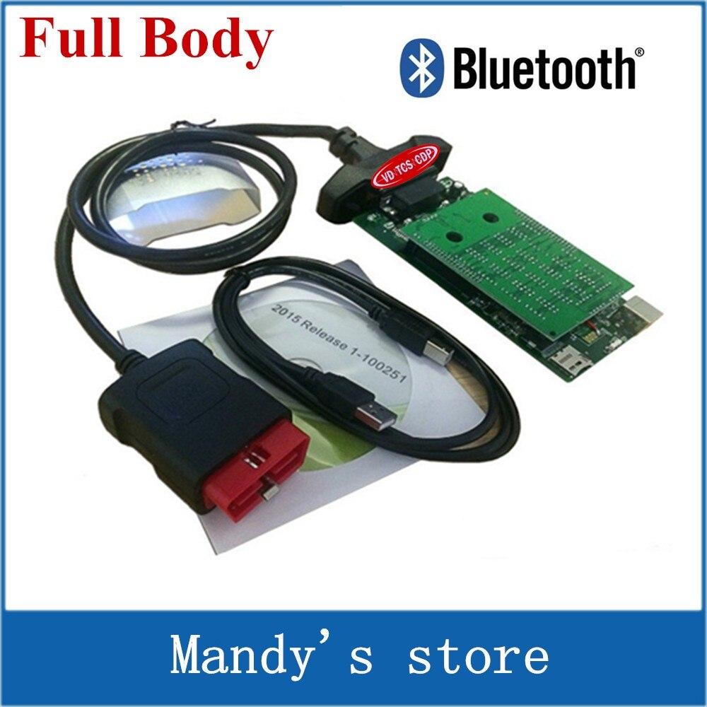 Цена за 2015. R3 с Keygen! Новый VCI VD TCS CDP с Bluetooth OBD OBD2 OBDII диагностический сканер инструмент с ne c реле зеленая доска