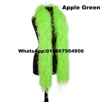 10Meters/Lot Apple Green OSTRICH FEATHER BOA party scarf Turkey feather boa marabou boa in 10ply thickness
