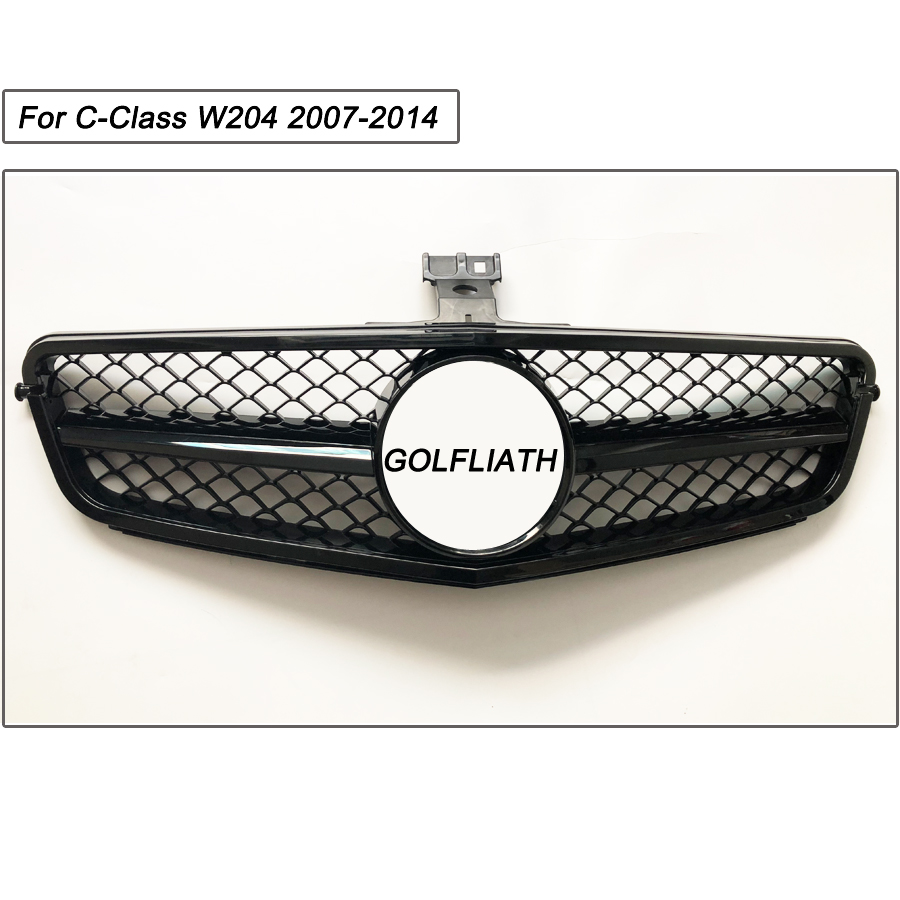 GOLFLIATH For M-B C-Class W204 Grille New C63 AMG style Grille For 2007-2014y C180 C200 C260 C300 11 11 promotion for w204 amg gt gtr grille for mercec class w204 racing grille c180 c200 c250 c300 2008 2014 front grill