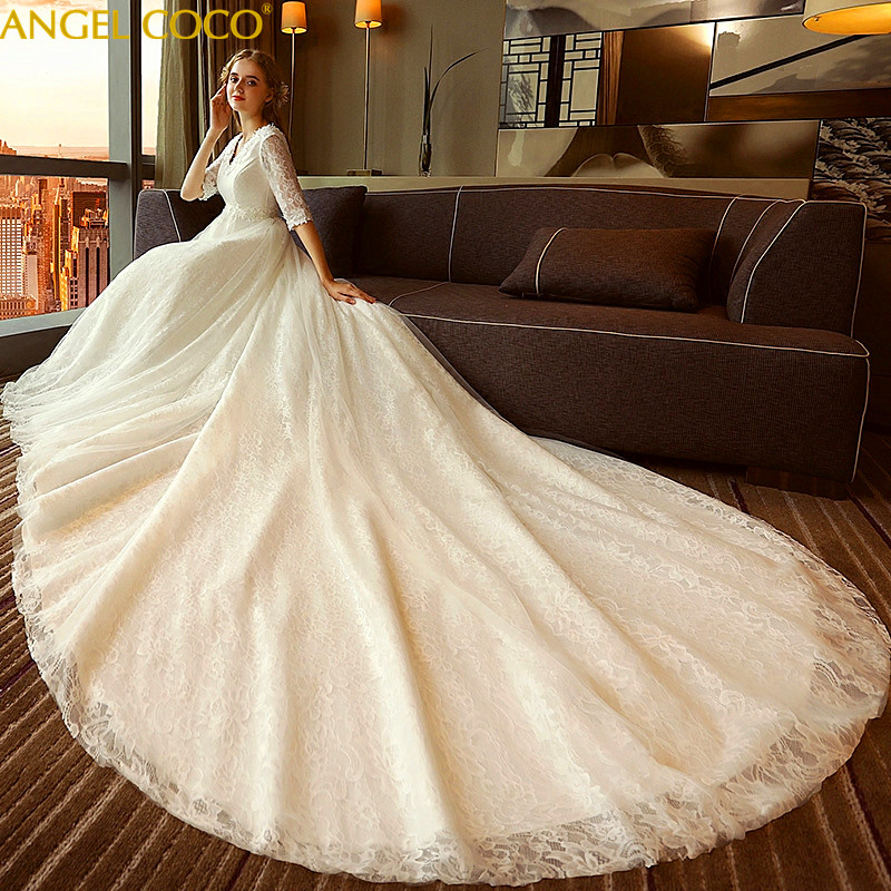 1-9 Month Pregnancy Maternity Wedding Dress Bride High Waist Pregnant Women Wedding Gown Red Long Tail Plus Size Women Clothing