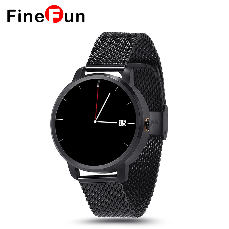 FineFun V360 Smart Watch Bluetooth Smartwatch Alitmeter Music Player Pedometer for Android IOS Mobile Phone Hebrew Korean цена и фото
