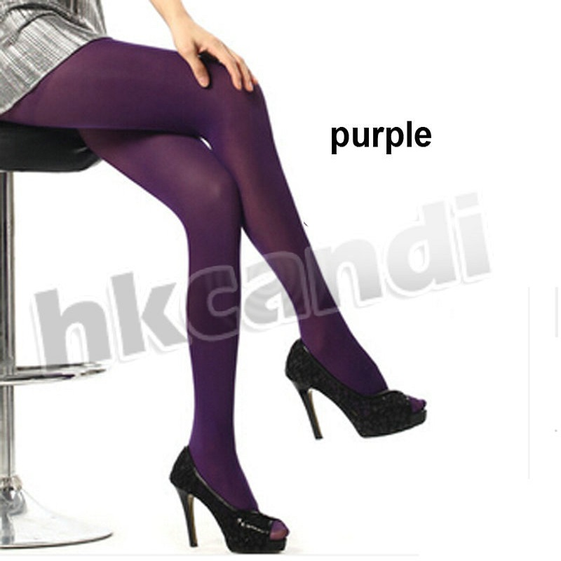 New Fashion Girls Women Stretch Tights Footed Stockings -5855