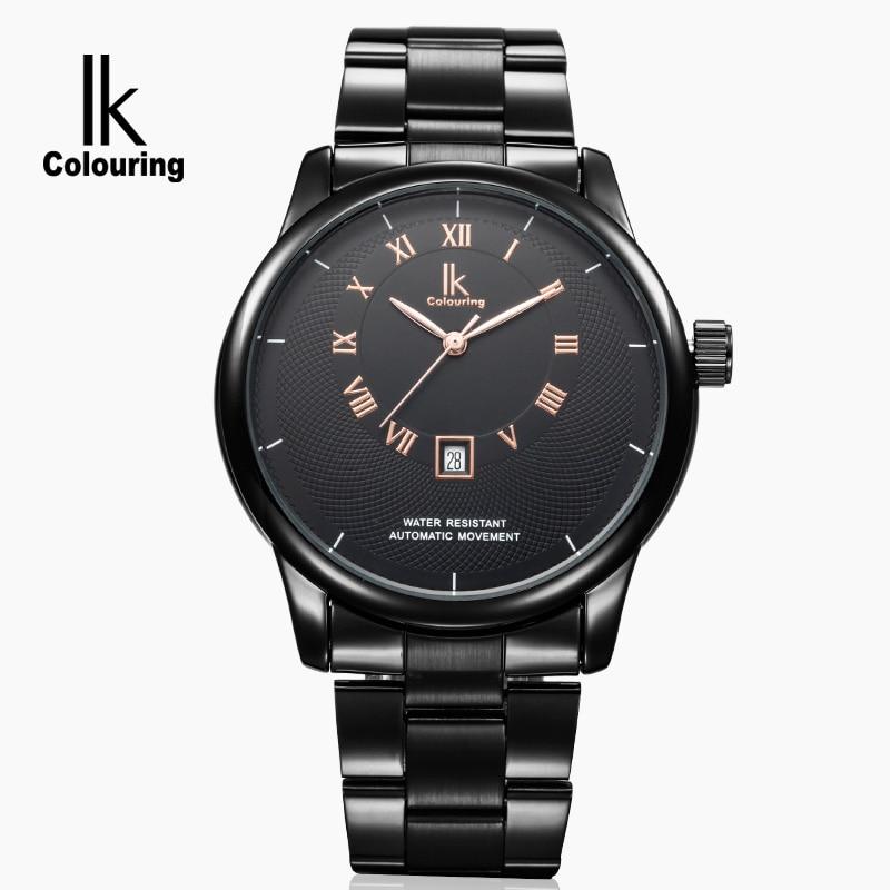Mens Watches IK 2018 Top Luxury Brand Automatic Mechanical Watch Men Full Steel Business Waterproof Fashion Sport Watches цена