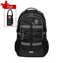 """Moda Swisswin 15 """"16"""" 17 """"bolsa de portátil mochila grandes hombres de la capacidad militar diario caso bolsa de viaje de la escuela mochila para Adolescentes Boy"""
