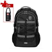 """Swisswin mode 15 """"16"""" 17 """"ordinateur portable sac à dos grande capacité hommes sac militaire quotidienne voyage sac cas d'école mochila pour Adolescent"""