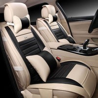 CAR PASS Breathable PU Leather Universal Fit Car Seat Covers Black Car Seat Covers Universal PU