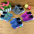 new fashion light up led shoes for kids luminous girls boys colorful shoes  charge for childrens kids baby mesh breathable shoes