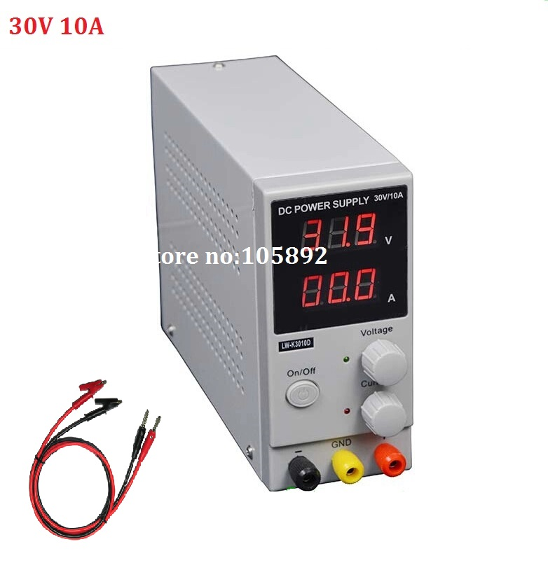 цена на Free shipping New LW-3010D Mini Switching Regulated Digital Adjustable Switch DC power supply 30V 10A  OCP/OTP US/EU/AU Plug