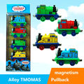 4pcs/lot Thomas and Friends ABS and Alloy Material Pull-Back Magnetic Cars Kids Best Gifts Thomas Cartoon Train Children Toy