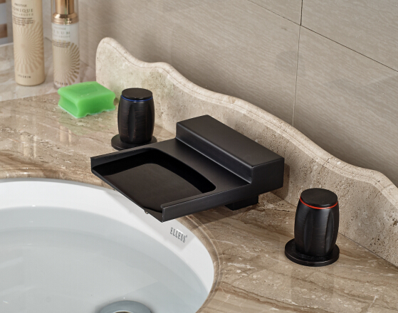 Shop Classic High Spout Oil Rubbed Bronze Bathroom Faucet: Deck Mounted 3 Holes Tub Filler Faucet Waterfall Spout Oil
