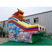 inflatable water slide attaching bracket pool with customized size and design