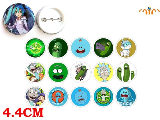 Giancomics Hot Rick and Morti Anime Pins Button PVC Cute Cartoon Pattern Badges Brooch Chestpin Costume Ornament Accessory Gifts