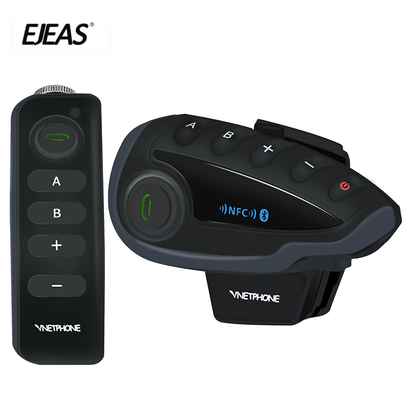 EJEAS 100% marque originale V8 1200 M Interphone casque Bluetooth casque moto Interphone NFC télécommande Duplex complet + FM