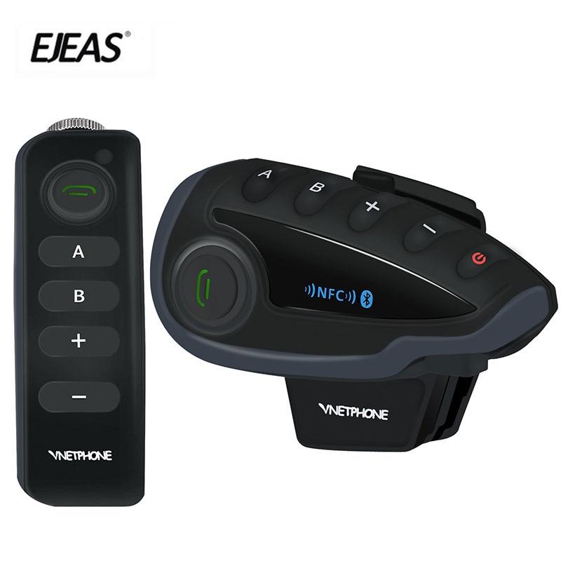 EJEAS 100% marque originale V8 1200 M Interphone casque Bluetooth casque moto Interphone NFC télécommande Duplex complet + FM