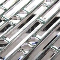 Mius Art Mosaic Diamond Silver Mirror Crystal Glass Mosaic Tile For Kitchen Backsplash Decoration A47074