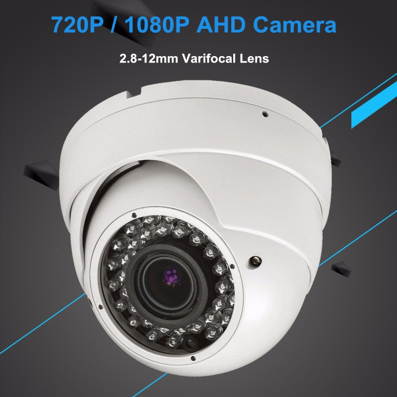 New! CCTV AHD 720P  1080P IR Mini Dome Analog AHD Camera Outdoor IR CUT Night Vision 2.8-12mm Varifocal Lens hd 1mp ahd security cctv camera 720p indoor dome ir cut 48leds night vision ir color 1080p lens