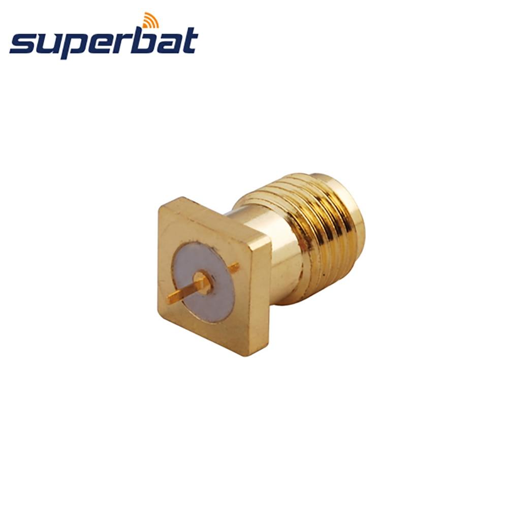 Superbat РЧ коаксиальный разъем SMA через отверстие для установки на панель Гнездовой разъем с tab терминал цена