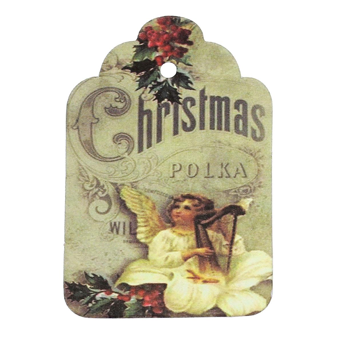 """DoreenBeads Paper Price Marking Labels Multicolor Angel Christmas Pattern 60mm(<font><b>2</b></font> 3/8"""")<font><b>x</b></font> 40mm(<font><b>1</b></font> 5/8""""),50 Sheets"""