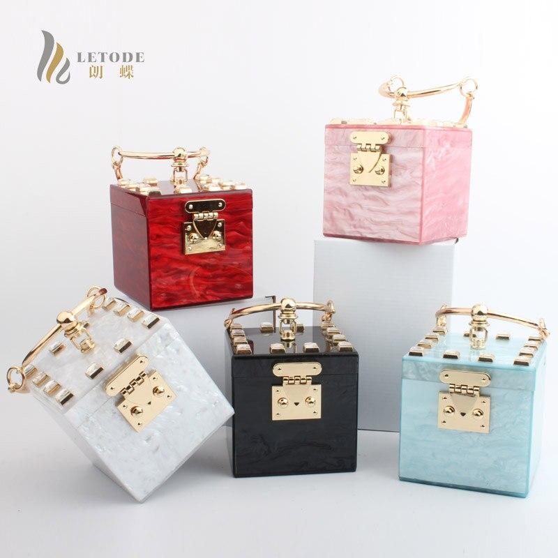Bolsa feminina acrylique sacs à main femmes sacs sac de soirée embrayages voyage sac à main pierre Totes portefeuille mode mariage fête bal top